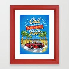 Racing Adventure Framed Art Print