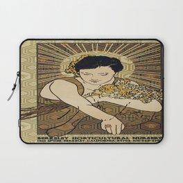 Vintage poster - Berkeley Horticultural Nursery Laptop Sleeve