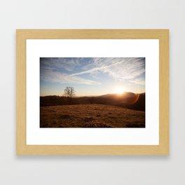 Hillside Sunset Framed Art Print