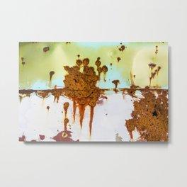 Rusting Panels Metal Print