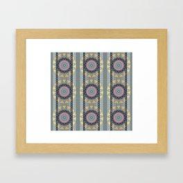 Boho Multi Mandala Goth Lace Elegant Thread Texture Print Framed Art Print
