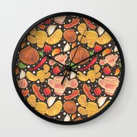indonesia Wall Clocks featuring Indonesia Spices by haidishabrina