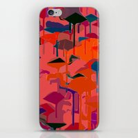 flamingos iPhone & iPod Skins featuring flamingos  by Emma Stein