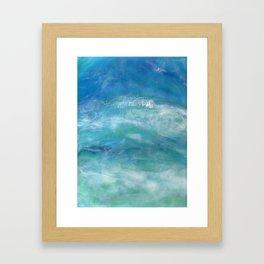 Sea Splash Abstract Acrylic Framed Art Print
