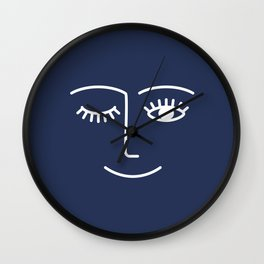 Wink / Navy Wall Clock