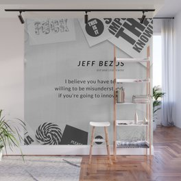 Jeff Bezos Quote On Be Willing To Be Misunderstood Wall Mural