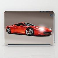 ferrari iPad Cases featuring FERRARI 458 by MATT WARING