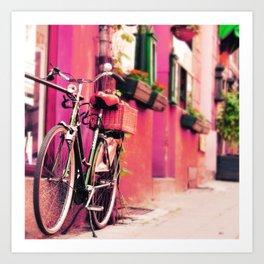 Dreamy Bike Ride Travel Photography Art Print