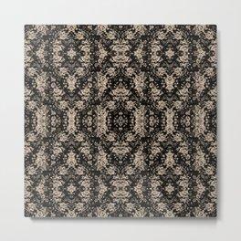 Pretty floral Pattern black and white Metal Print