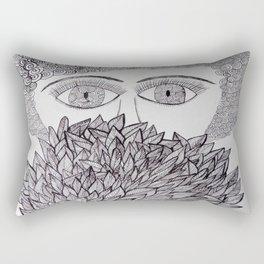 The face behind the bush Rectangular Pillow