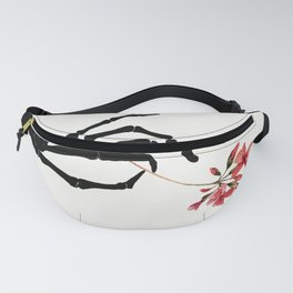 Skeleton Hand with Flower Fanny Pack