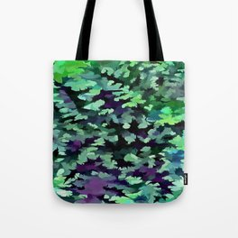 Foliage Abstract Pop Art In Jade Green and Purple Tote Bag