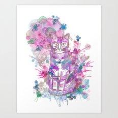 Purple kitten Art Print