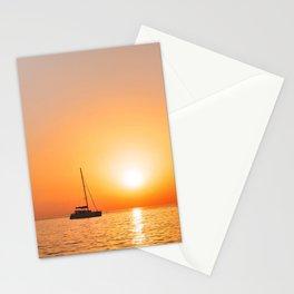 215. Mykonos Sunset, Greece Stationery Cards