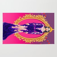evil queen Area & Throw Rugs featuring  Queen Grimhilde ( The Evil Queen ) by Sara Eshak