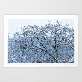It's snowing Art Print
