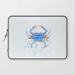 Watercolor blue crab paint splatter Laptop Sleeve