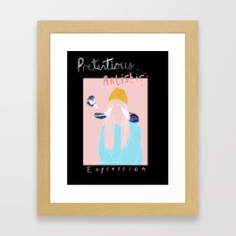 Pretentious Artistic Expression Girl Framed Art Print