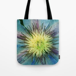 Aqua-Blue Flower With Lilac Accents Tote Bag