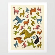 camelids Art Print