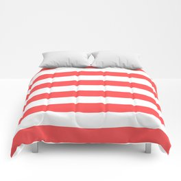 Coral Stripes Comforters