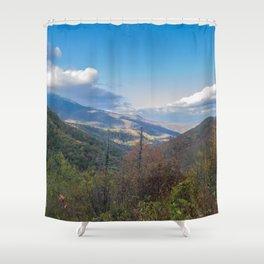 Blue Ridge Peaks Shower Curtain