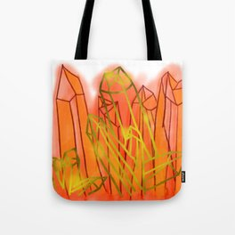 Crystals - Orange Tote Bag