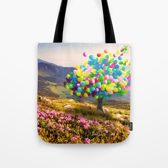 When Balloon Bloom Tote Bag