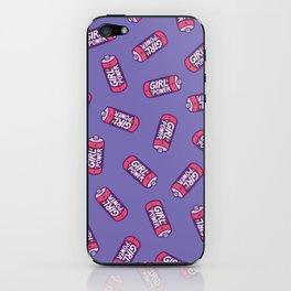 Girl Power Pattern in Purple iPhone Skin