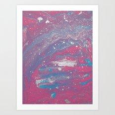 pastel galaxy Art Print