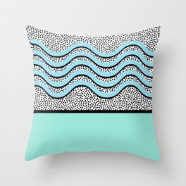 Solid Waves Throw Pillow