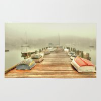 cape cod Area & Throw Rugs featuring Cape Cod Mornings 2 by Raymond Earley