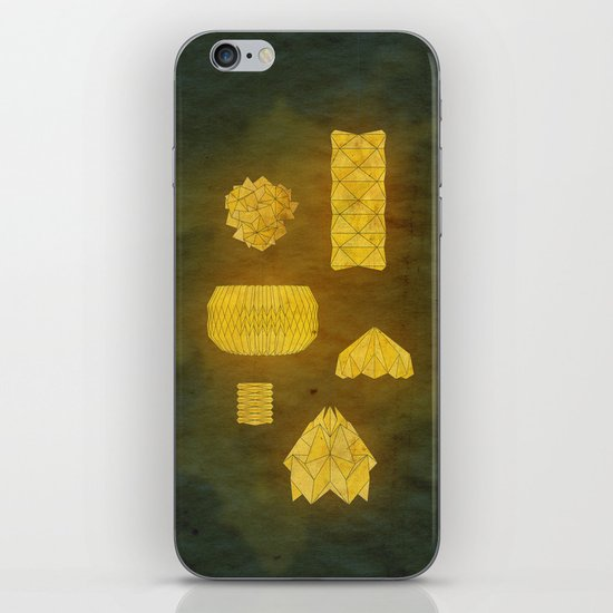 Under Origami Skies iPhone & iPod Skin