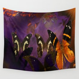 Butterfly flee Wall Tapestry