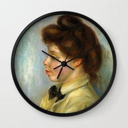 """Pierre-Auguste Renoir """"Jeune femme à la cravate noire"""" Wall Clock"""