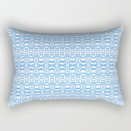 Dividers 07 in Light Blue over White Rectangular Pillow