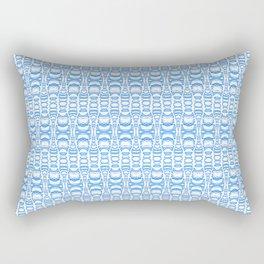Dividers 07 in Light Blue over White Rectangular Pillow