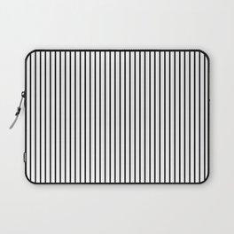 Large Black Pinstripe On White Laptop Sleeve