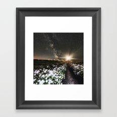 Galactic Lighthouse Framed Art Print