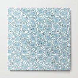 Bacterium blue Metal Print