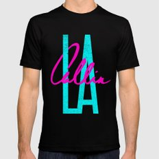 L.A. Callin' Black Mens Fitted Tee SMALL