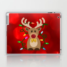 Christmas Reindeer in Lights Laptop & iPad Skin