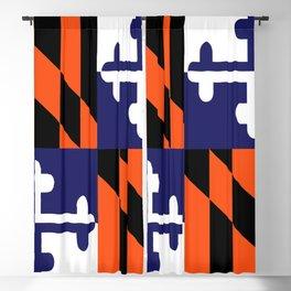 Maryland State Flag Football Purple Baseball Orange Blackout Curtain