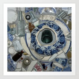 Glass Bits and Pieces Art Print