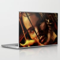 katniss Laptop & iPad Skins featuring Katniss by tgronberg