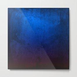 Blue Grunge Metal Print