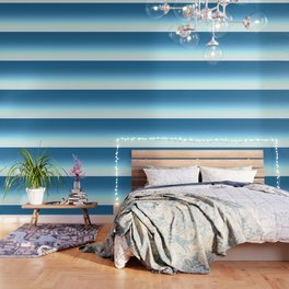 Sea blue Ombre Wallpaper