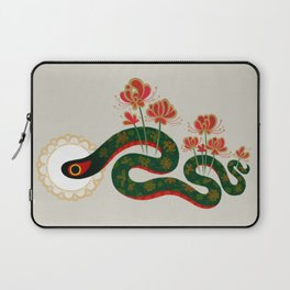 Snake and flowers Laptop Sleeve
