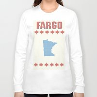 fargo Long Sleeve T-shirts featuring Fargo Cross Stitch by Cameron Chapman