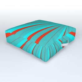 Sparkle Neon Aqua Turquoise Red Outdoor Floor Cushion
